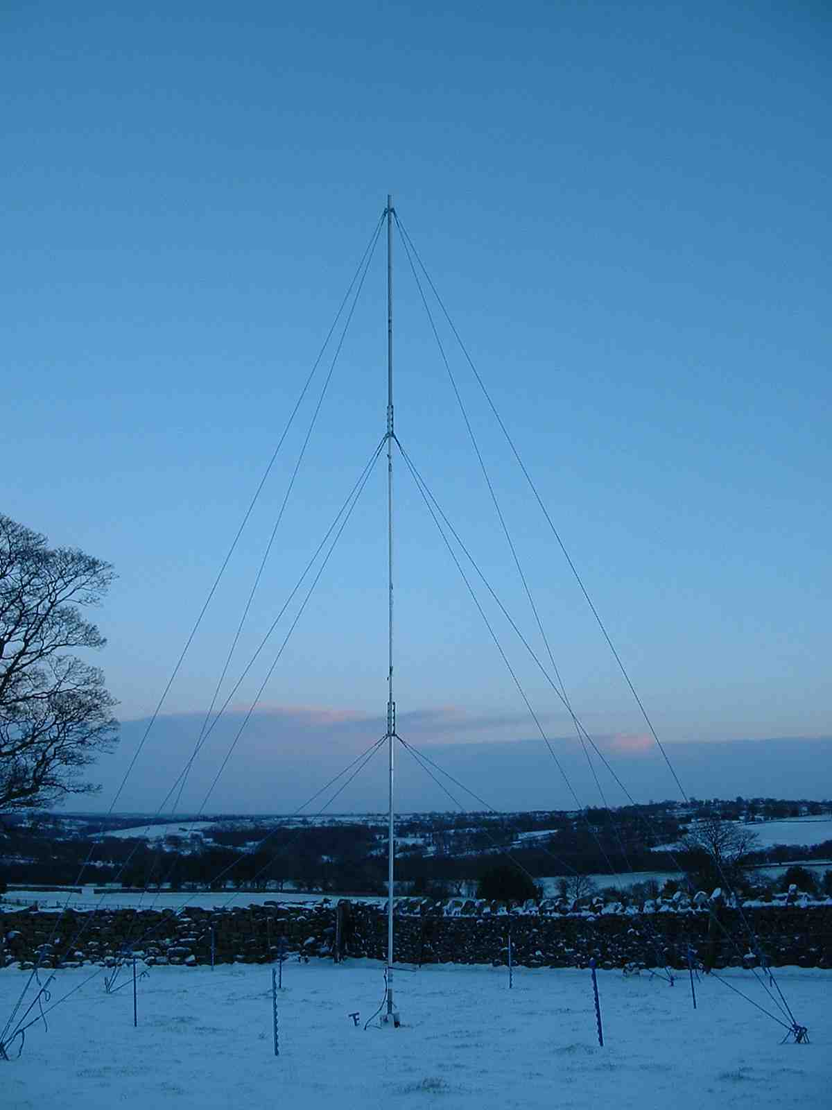 40M 1/4 wave vertical w/ elevated radials